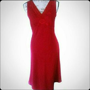 Casual Corner Rose Red Size 2 Dress